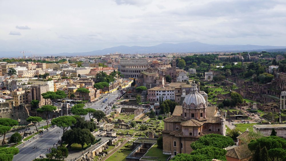 Stunning views of Rome from above. Source: Truevoyagers