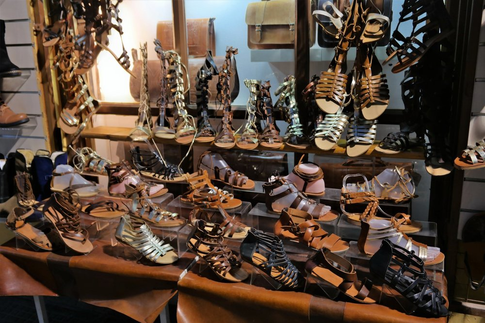 Greek leather sandals are really popular among costumers and tourists worldwide. Source: Truevoyagers
