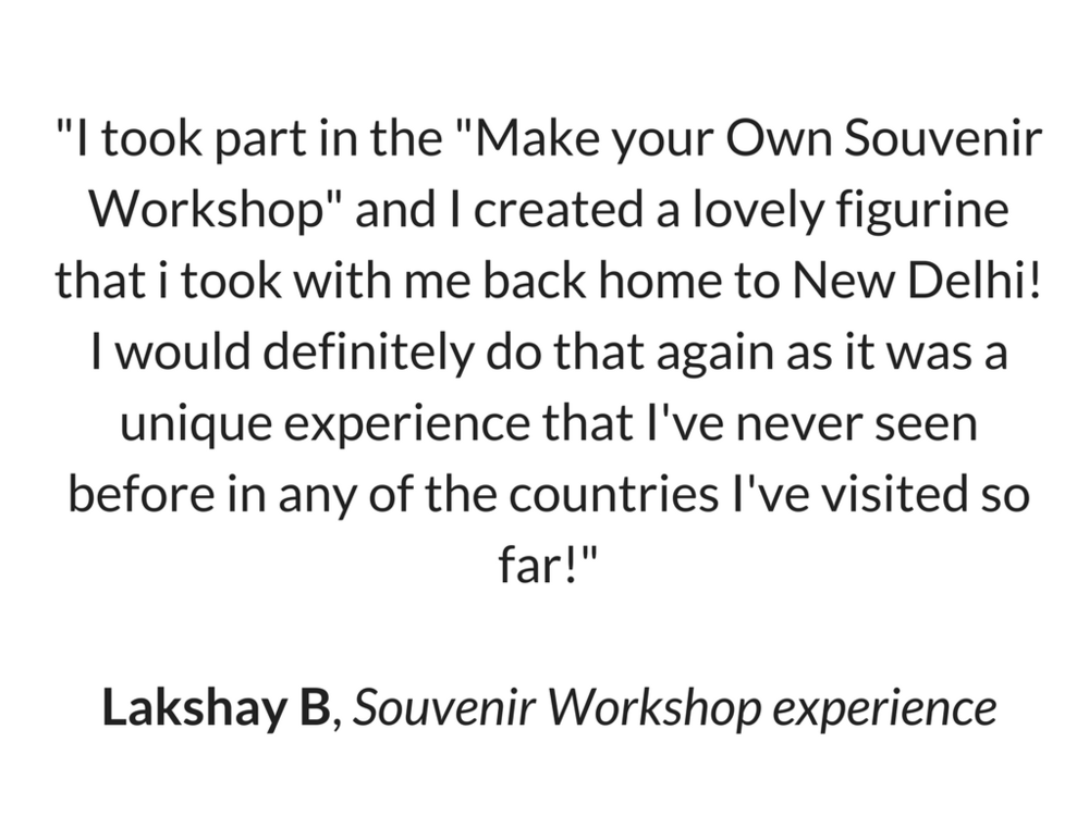 Lakshay's Review for Souvenir Workshop
