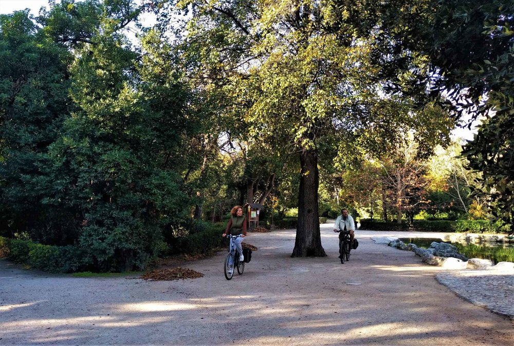 """The  National Garden of Athens  is considered another """"cycling spot"""" of the Greek capital, where you can enjoy the benefits of cycling with safety. Source: Truevoyagers"""