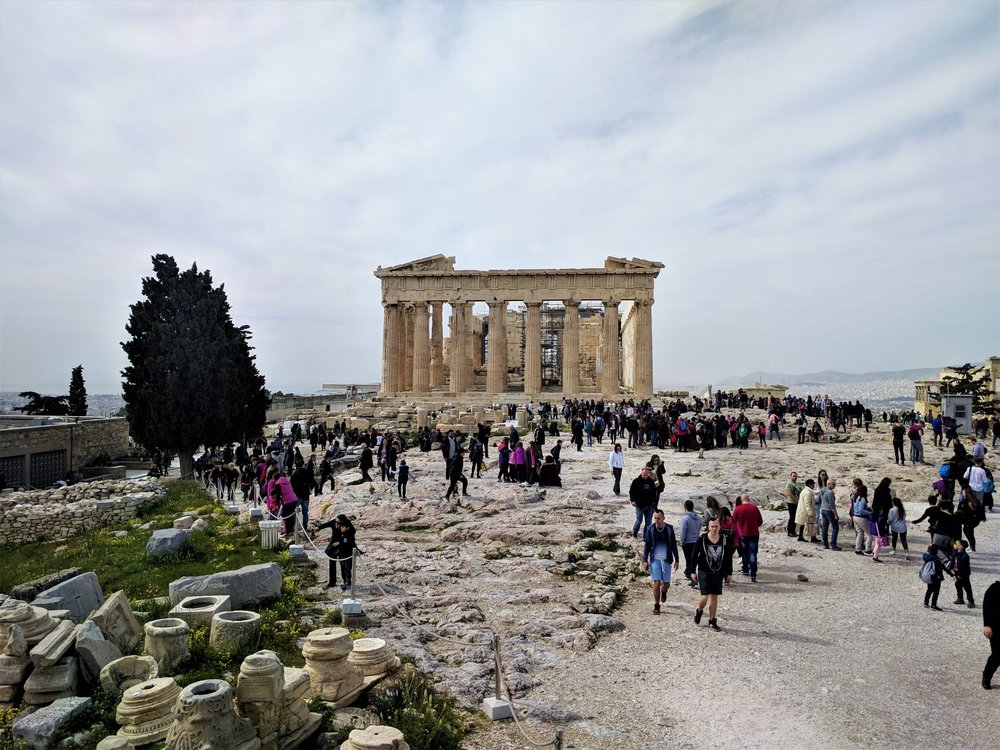 The Parthenon monument at the Acropolis can be visited for free several days of the year. Source: Truevoyagers