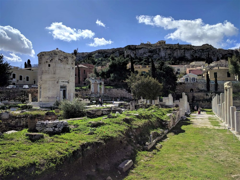 The Tower of the Winds in Plaka's Roman Agora is the first ever meteorological station.