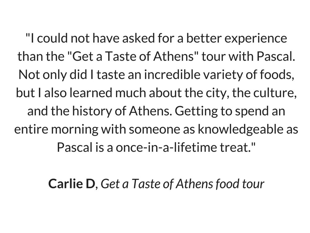 Carlie's Review for Get a Taste of Athens food tour by Truevoyagers