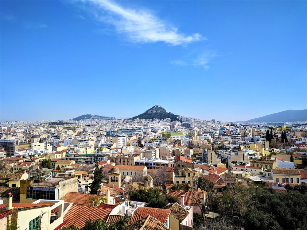 The city as seen from above in our Must-see Survival Guide for 3 Days in Athens, Greece.