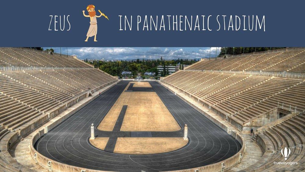 God Zeus in Panathenaic Stadium. Copyright: Truevoyagers