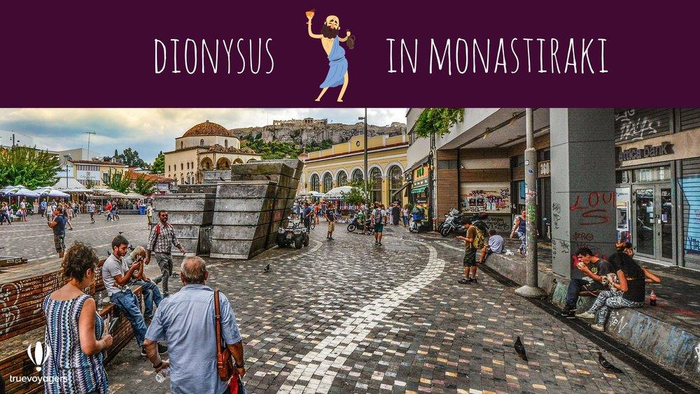 Dionysus in Monastiraki. Copyright: Truevoyagers