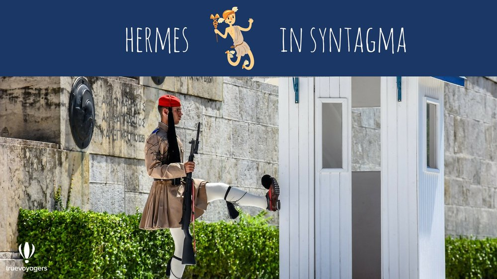 Hermes in Syntagma. Copyright: Truevoyagers