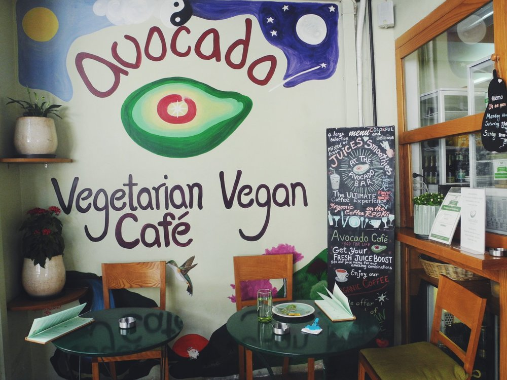 Avocado cafe and restaurant has been voted the best and most delicious cruelty-free food restaurant in Athens. Image source: fromatovegan.wordpress.com