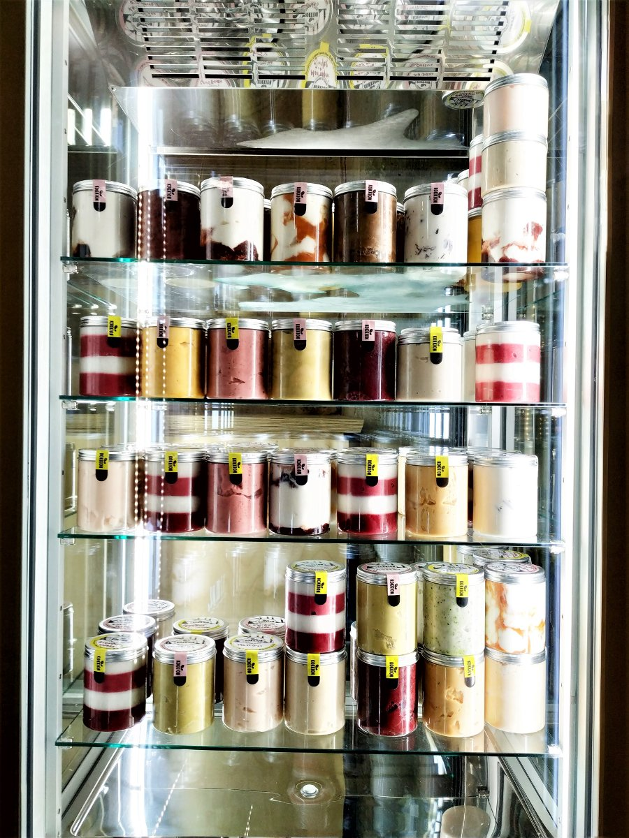 If you want to take away some delicious gelato, Kokkion has many suggestions already packed in a cute little jar!