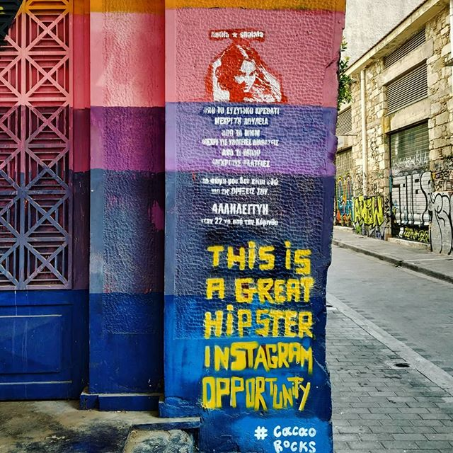 Athens is full of #Instagram opportunities, especially if you love graffiti art! Join our #Athens Instagram #phototour and discover more hidden spots of the #Greek capital! 📸 Link in bio!  #truevoyagers #trueathens #saturdayslikethis 🔸 🔹 🔸 🔹 #Athensgraffiti #athenstours #visitgreece #polaroid #great_athens #igers_greece #ig_greece #team_greece #vsco_greece #instadaily #travel_drops #mytinyatlas #streetphotography #streetart #traveleroftheweek #traveldiaries #travelblogger
