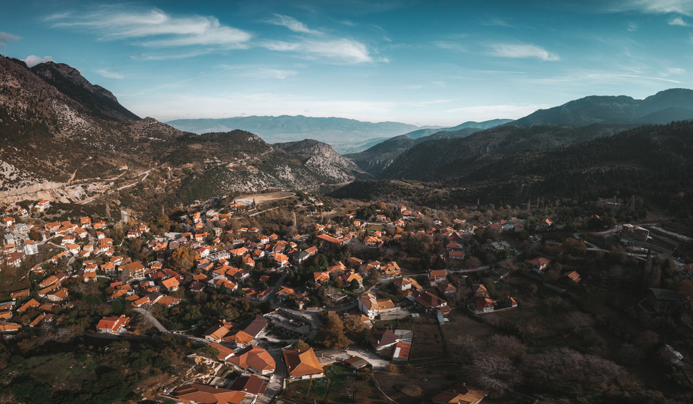 Overlooking Arachova village.
