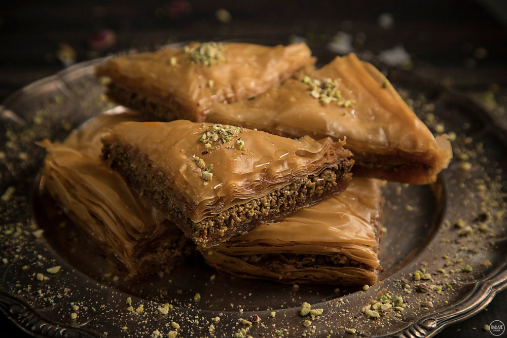 Nobody should leave Greece without tasting the mouth-watering phyllo-based  baklava . Photo source: madameginger.com