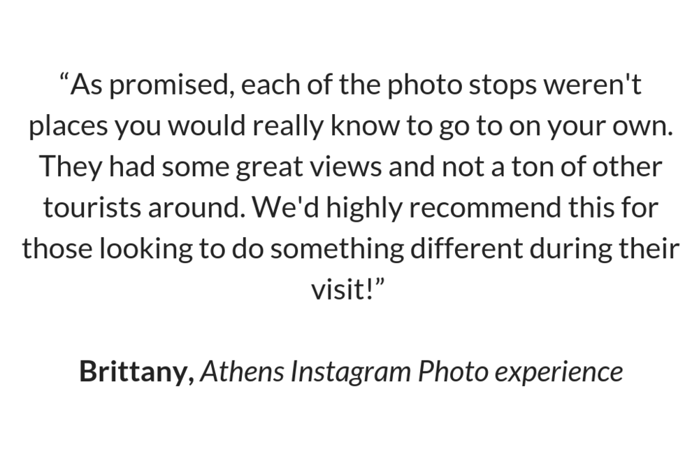 Review of Athens Instagram Photo Experience