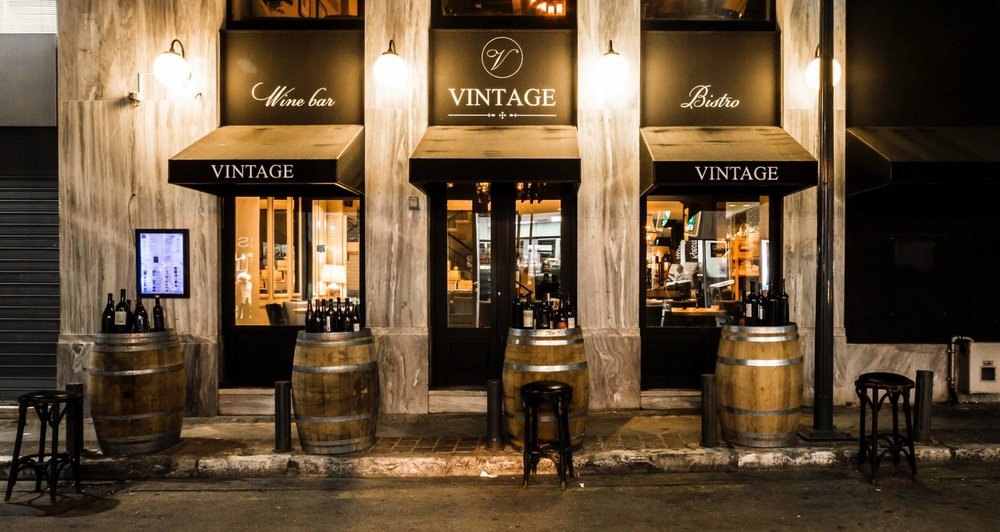 Over 500 labels from Greek and international vineyards and an architecture reminding us of Paris can be found in  Vintage   Wine Bar & Bistro  in Athens. Source:  Vintage   Wine Bar & Bistro