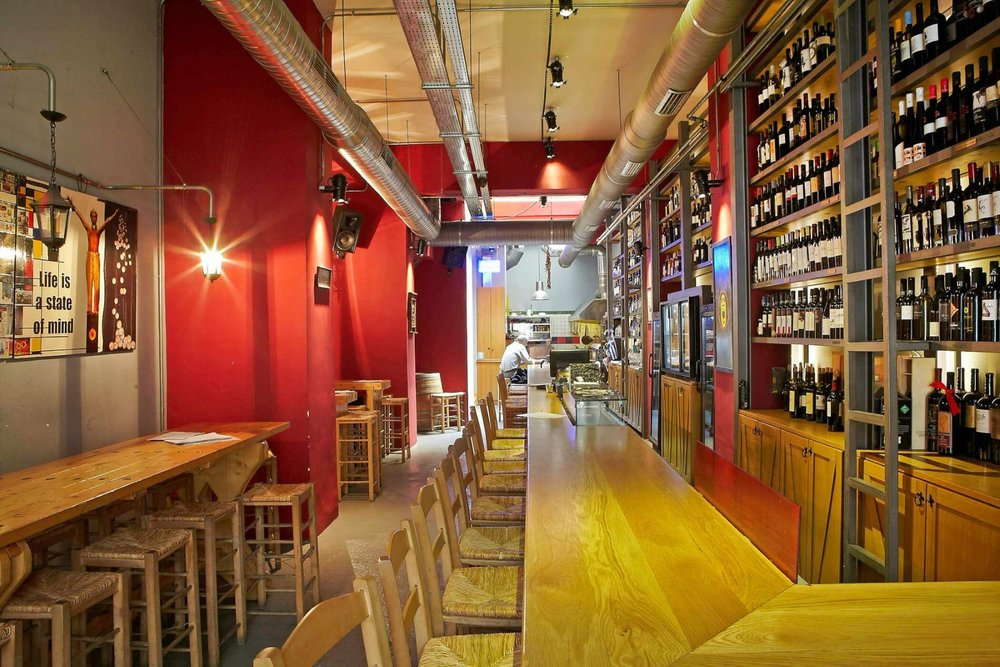 With 500 labels from 130 Greek producers,  Fabrica de Vino  is the go-to place in Athens for all wine connoisseurs. Source: Travel to Athens
