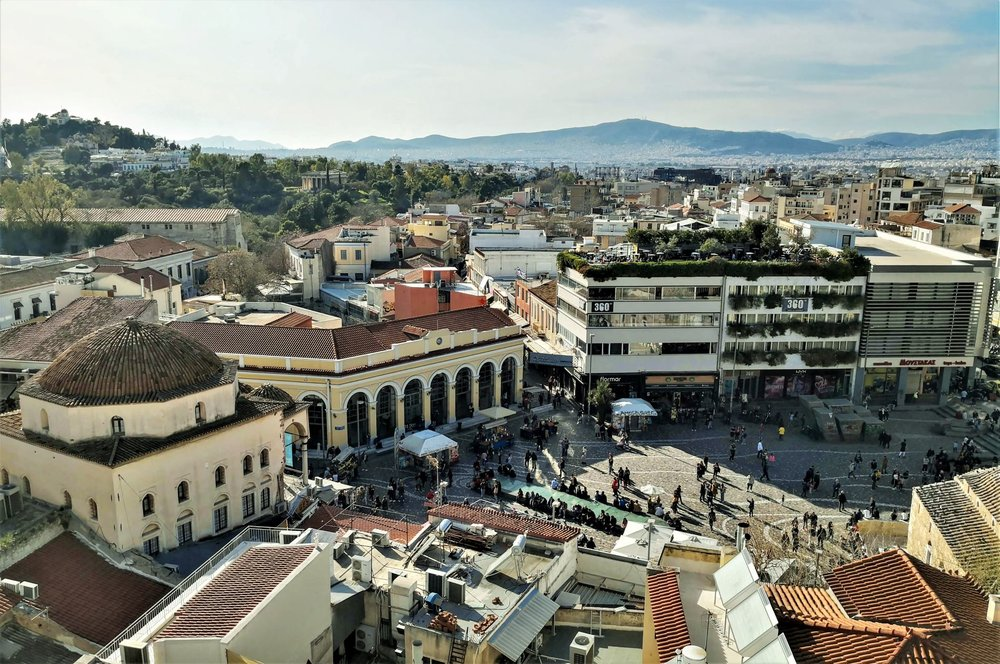Monastiraki square is the melting pot of different cultures in Athens.