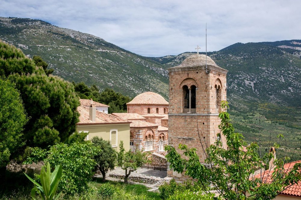 The monastery of Saint or  Osios  Loukas, another UNESCO World Heritage Site in Greece.