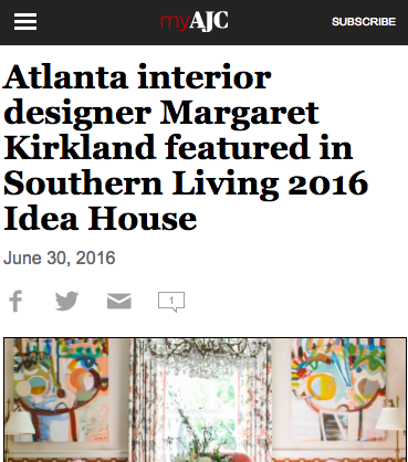 Margaret Kirkland in Atlanta Journal Constitution -