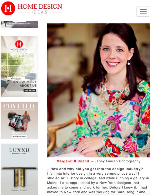Home Design Ideas: Interview with Margaret Kirkland -
