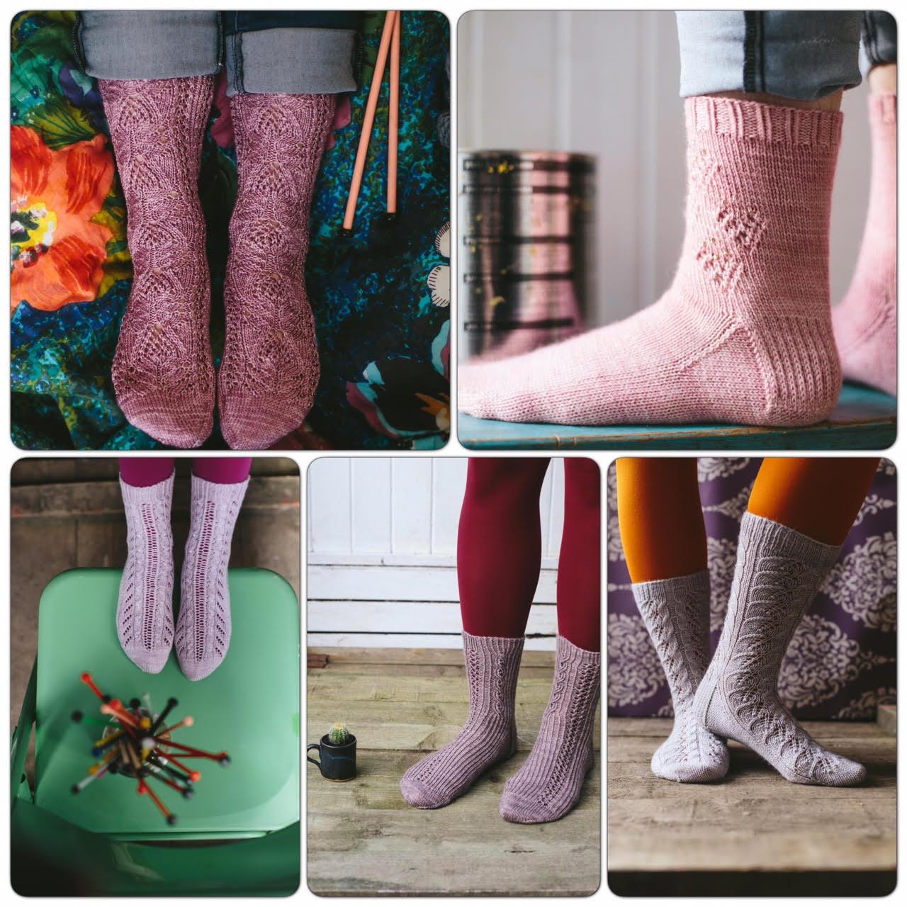 'Lazy Sunday Socks' by Jane Burns, images via Kat Goldin