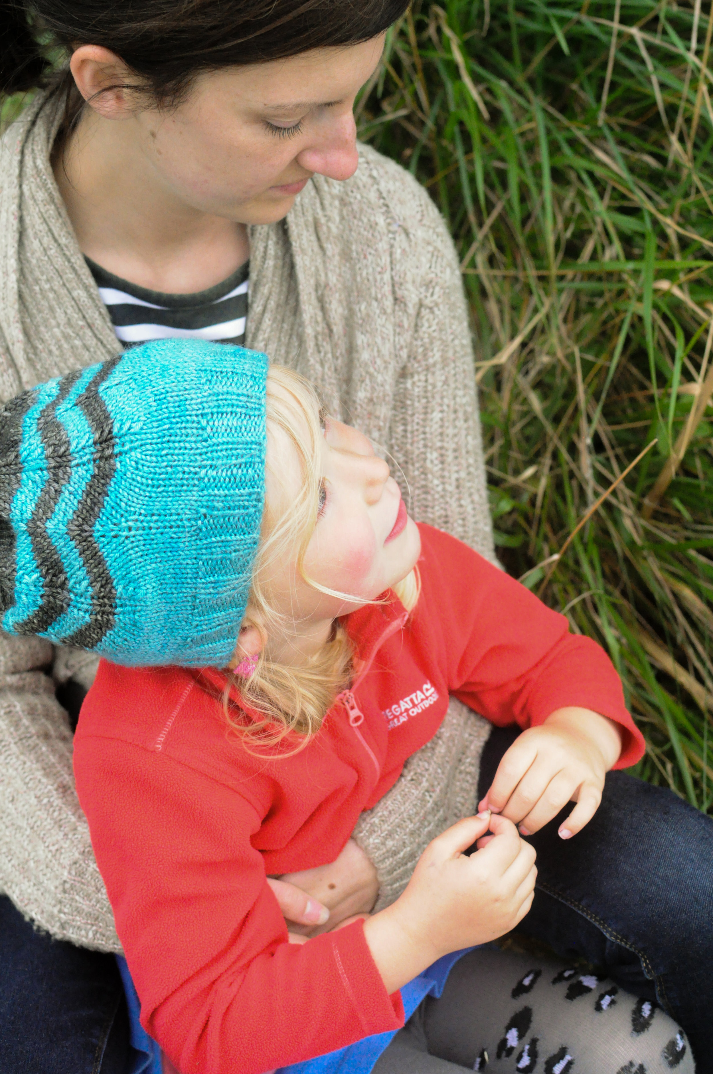 My Knit Tribe- My lil sis & daughter. Cuties in knitwear always