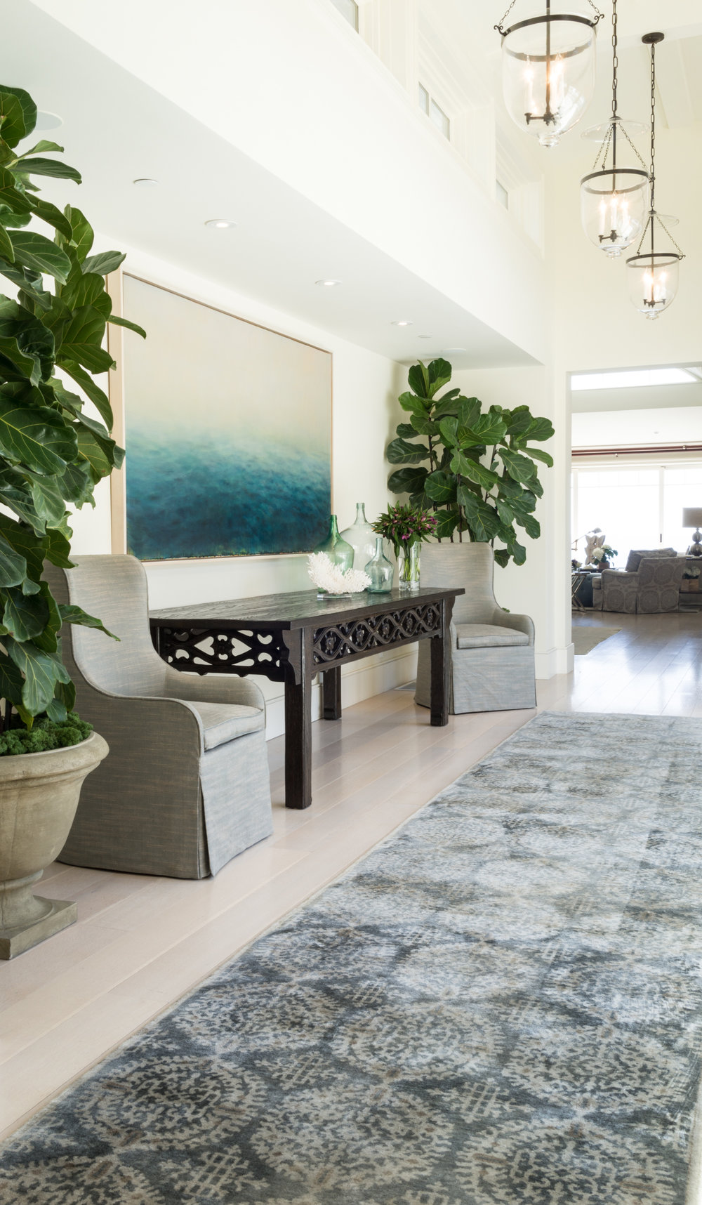 Our design firm, located in the heart of beautiful Laguna Beach, specializes in high-end residential interior design. - From quick fixes to uplift and update a room, to historical remodels, we work with each client individually, creating homes that are layered with unique pieces and custom furniture to incorporate elegance ease & comfort for each client.