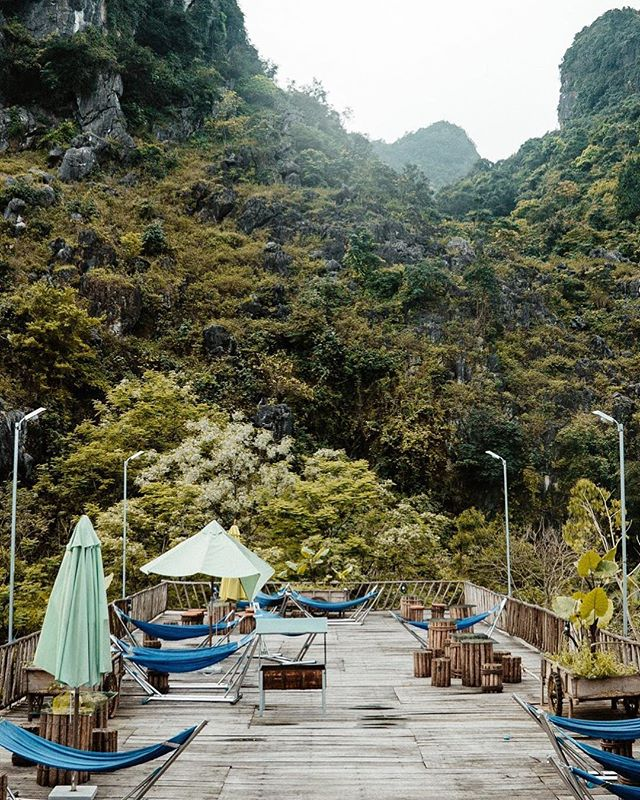 Dreamy rooftop hammocks at our hostel in Phong Nha 😍 We fell head over heels in love with this placid backpacker town in Central Vietnam, which is known for its incredible cave systems, dense jungles and ancient karst mountains. The town itself is situated along one main road that has everything you need in terms of accommodation (mostly hostels and budget hotels), food (lots of cafes), nightlife (so. much. karaoke.) and transportation ($6 motorbike rentals, anyone?) 🛵 As for us, we stayed at Nguyen Shack (pictured above) for $5 per person per night. This gave us a small semi-private room (bamboo partitions on three sides and a curtain on the fourth with an open roof) with shared toilets and hot-water showers. While you can't beat the price, we do recommend decent ear plugs for anyone who is a remotely light sleeper 😂 Otherwise, we really liked the restaurant, hammocks and general vibe here. 🍃 📷 by @ShelbyAlisha #DiscoverVietnam #ShareTheWorldUA