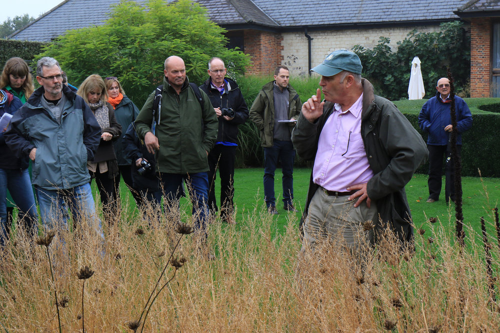 - Nurseryman and grass expert Neil Lucas at Bury Court, Hampshire, October 2017.