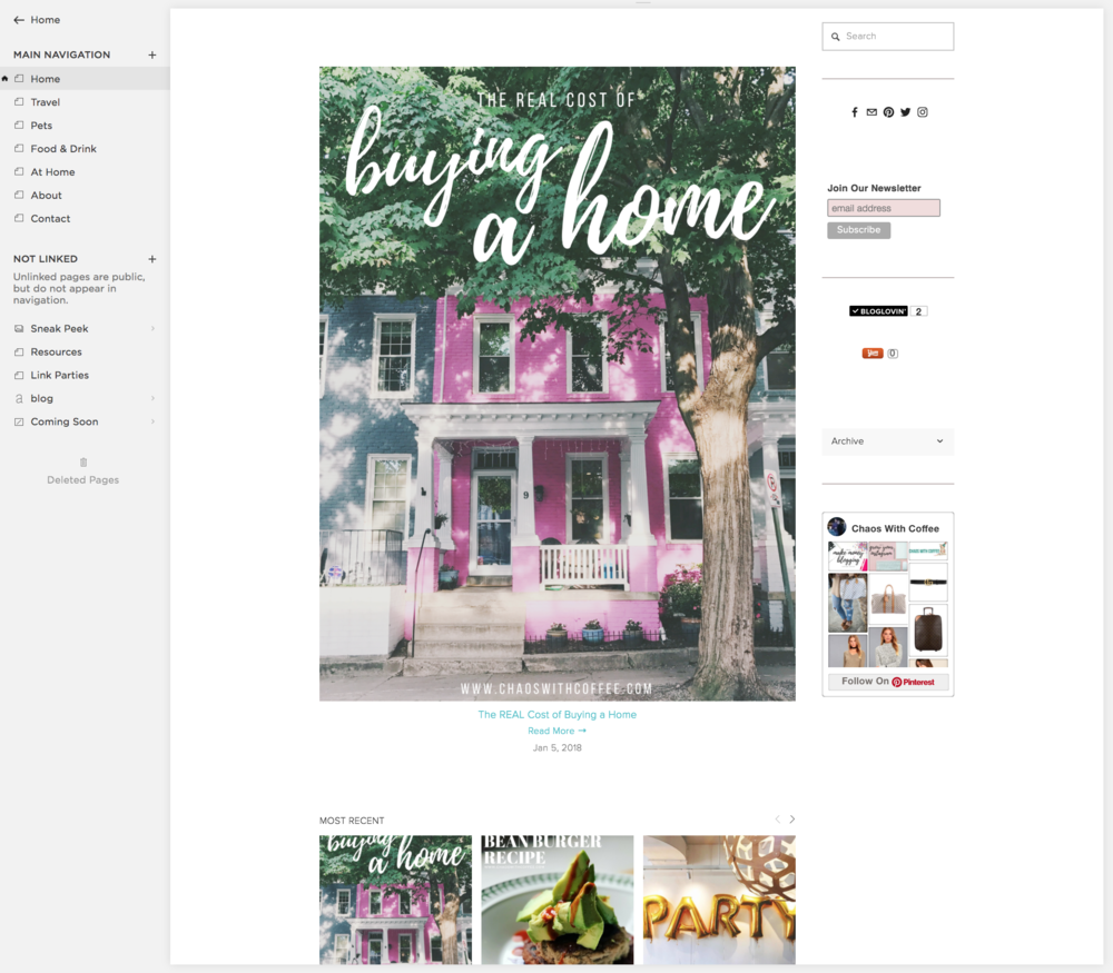 How To Start A Blog: Squarespace