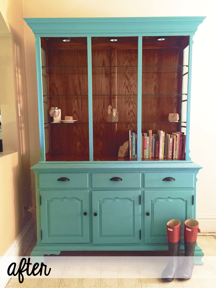 Upcycled Hutch via Chaos With Coffee