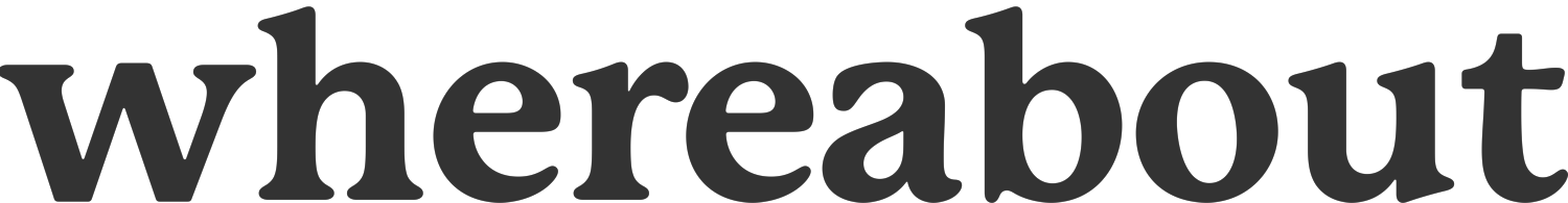 whereabout's Company logo