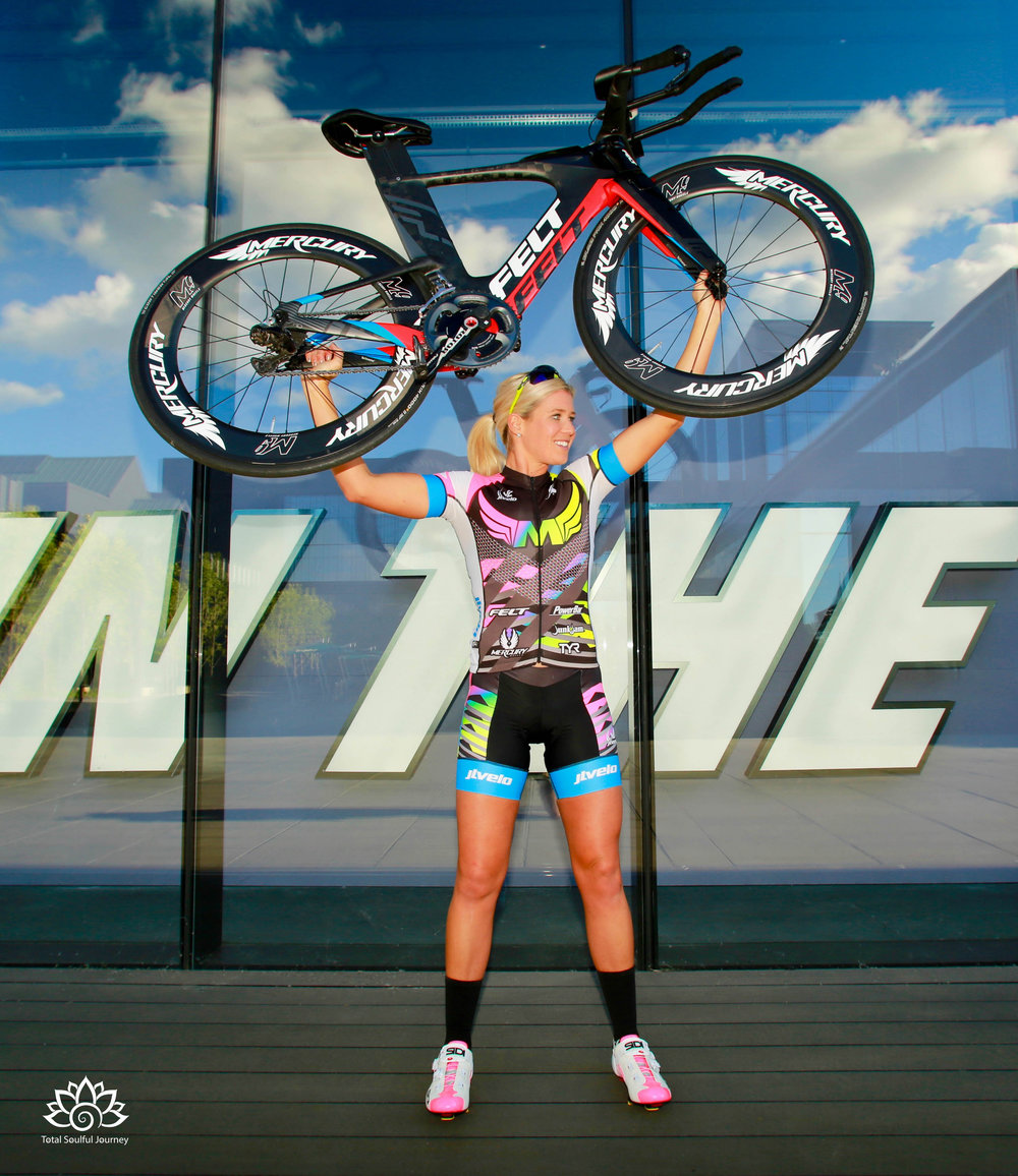 Mackenzie Madison  is a professional Triathlete who loves the energy that she gets from exercise. Photo by paul garrett