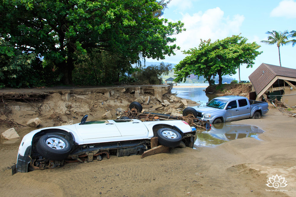Flood Damage in Hanalei. Photography by Paul Garrett