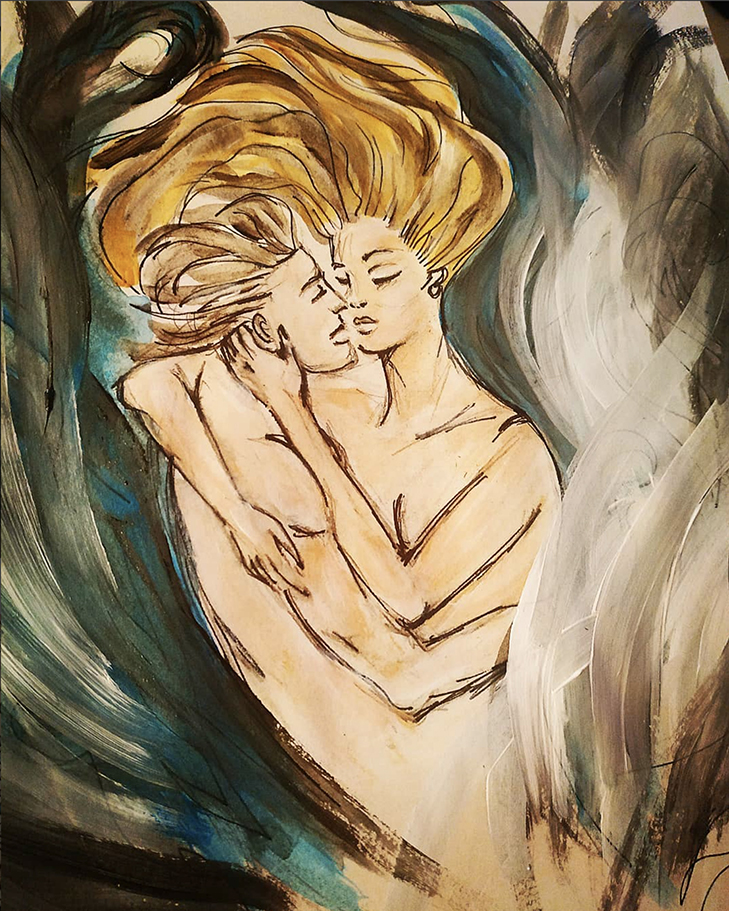"""The Twin Flame Journey is a process of Awakening. """"Reunion"""" by Ayla. Please Visit her Instagram at    @aylabkyoga"""