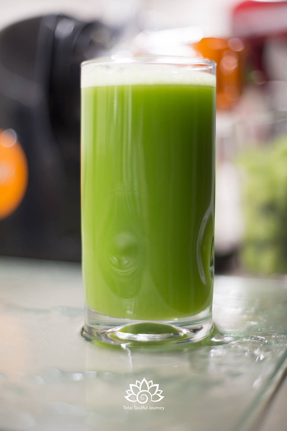 16 ounces of fresh celery juice is the perfect way to start your day! - Photography by Paul Garrett