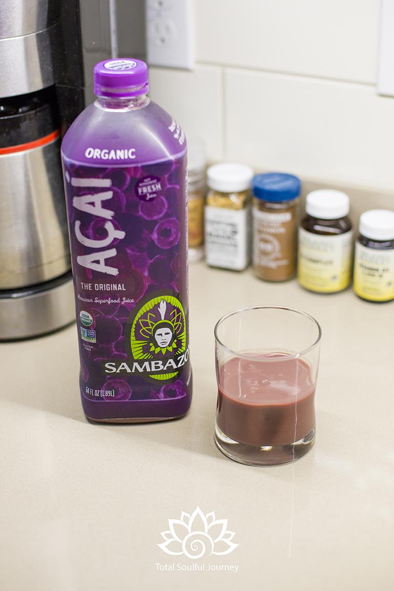 Sambazon Acai Juice from Costco - Photography by Paul Garrett