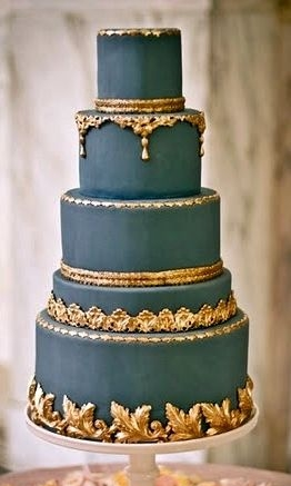 9.  Maharani Style - Let them eat cake! This one seems like it fit for any queen, or should I say Maharani. The gold borders with this slate blue-ish gray-ish color makes for some regal eye candy.