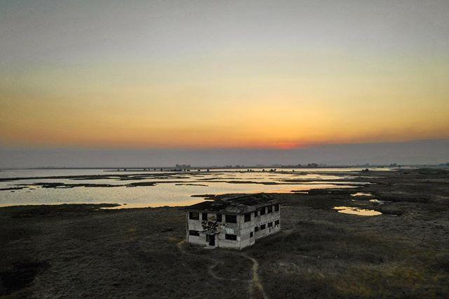 Lost but never Forgotten. #dji #djimavicpro2 #mavicpro2 #abandonedplaces #wirecastnapa #wirecast #wetlands #lostbutneverforgotten #sunset #sunsets