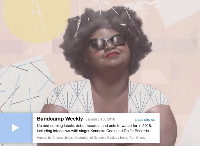 Featured on front page of Bandcamp - Listen to Bandcamp Weekly interview with host Andrew Jervis, and hear new songs from Moonchild.
