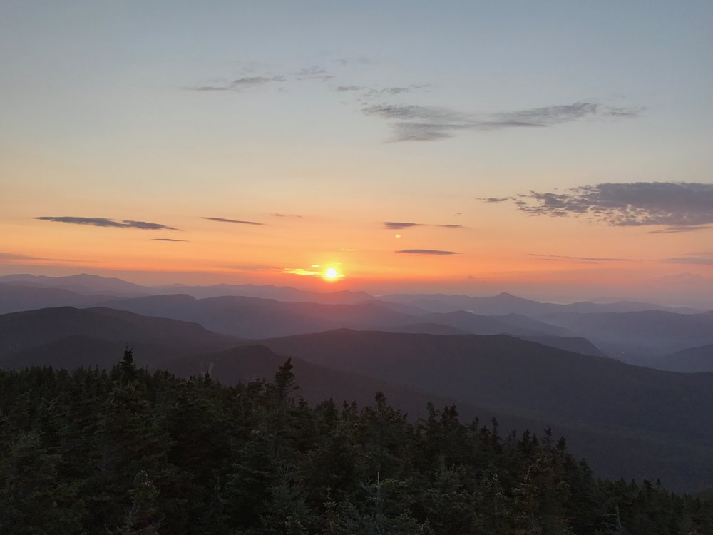 sunrise from the summit of Mt. Carrigain