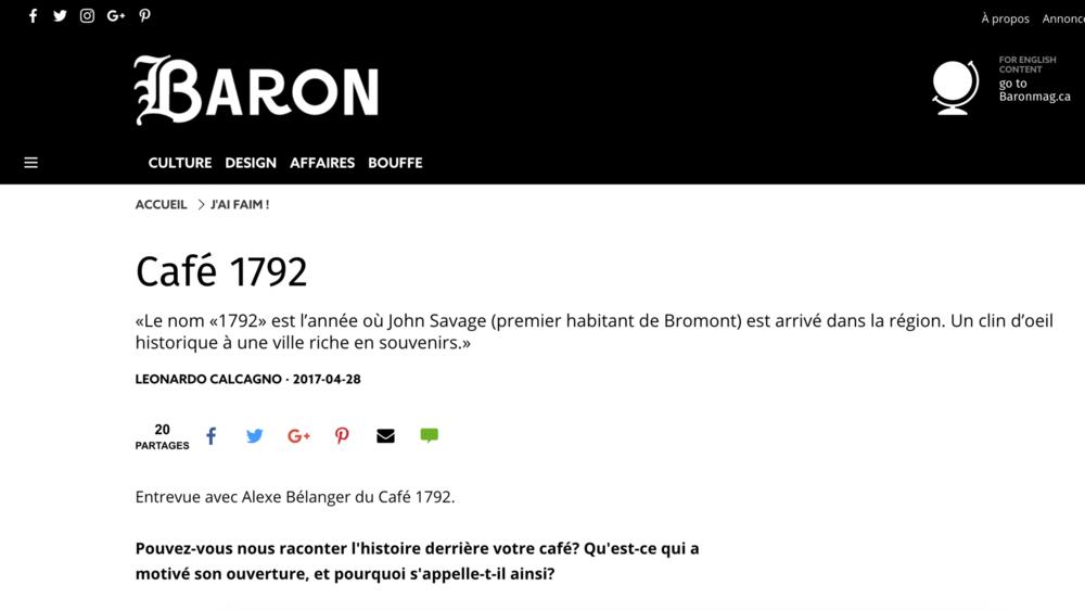 Baron Mag - par Leonardo Calcagno28 avril 2017