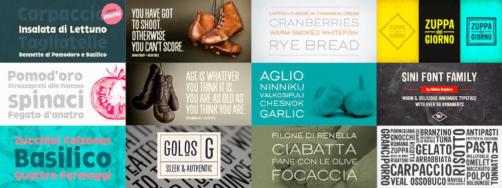 typografian suunnittelu