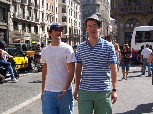Jeff & Justin in Barcelona
