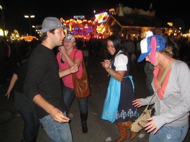 Dancing at Oktoberfest