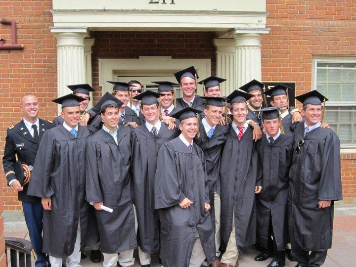 Sigmi Pi graduation at Wake Forest