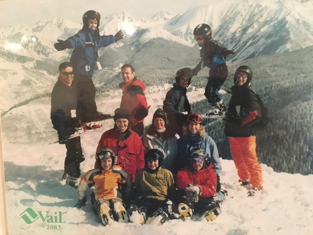 Young, Atkins & Carney family ski trip