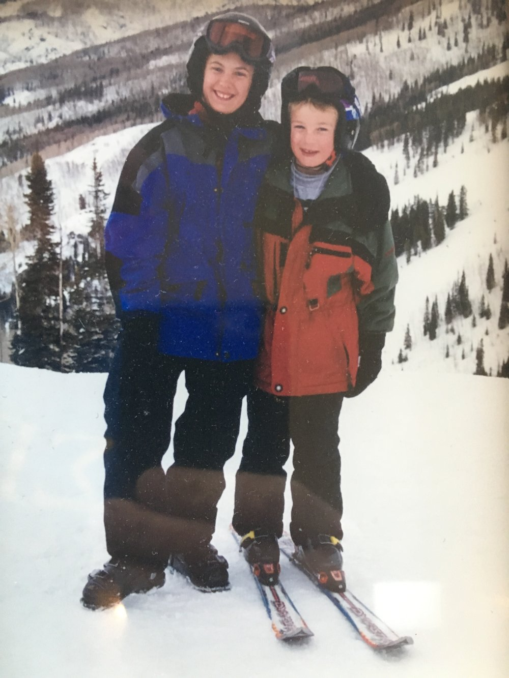Jeff & Miles skiing