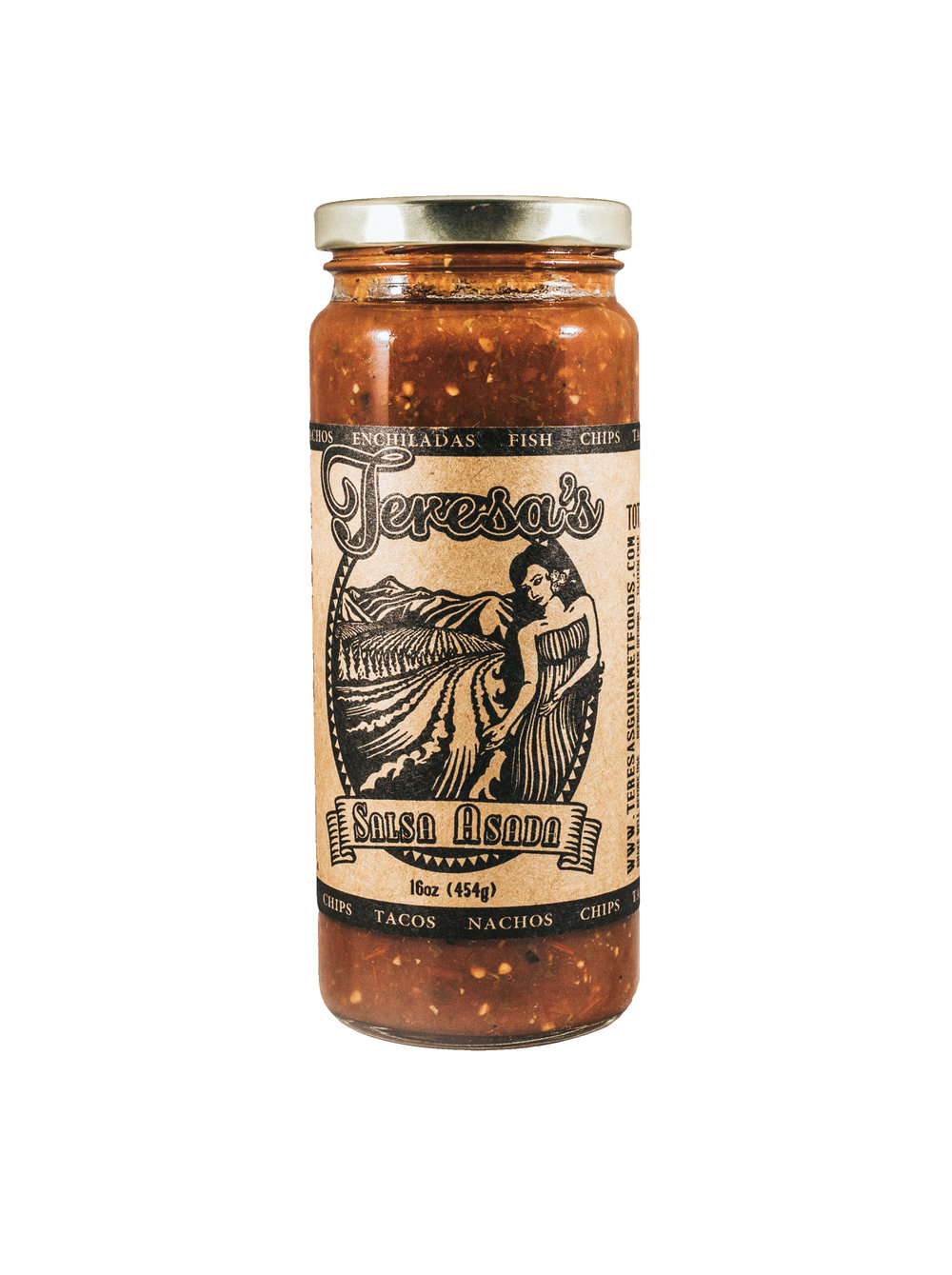 """Salsa Asada - This smoky salsa, made from fired roasted tomatoes is fantastic right out of the jar with tortilla chips, fish tacos, or nachos. Also great in the slow-cooker with beef, or a great addition to soups that need a little """"kick."""""""