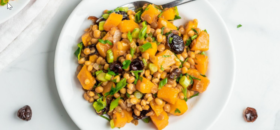 Lentil Salad with Maple Roasted Squash - Beans are packed with tons of fiber, as well as plenty of iron and protein. They are rich in antioxidants and phytonutrients. They are low in calories.