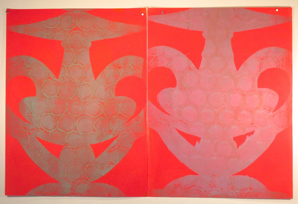 Red Diptych